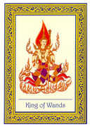 King of Wands Tarot card in Royal Thai deck