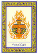 Ace of Cups Tarot card in Royal Thai deck