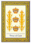 Three of Cups Tarot card in Royal Thai deck