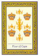Four of Cups Tarot card in Royal Thai deck