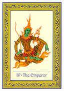 The Emperor Tarot card in Royal Thai deck