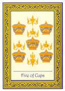 Five of Cups Tarot card in Royal Thai deck