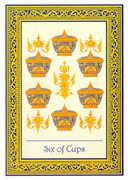 Six of Cups Tarot card in Royal Thai deck