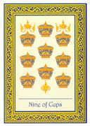 Nine of Cups Tarot card in Royal Thai Tarot deck