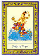 Page of Cups Tarot card in Royal Thai deck