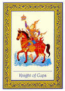 Knight of Cups Tarot card in Royal Thai deck