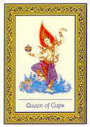 Queen of Cups Tarot card in Royal Thai deck