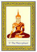 The Hierophant Tarot card in Royal Thai deck