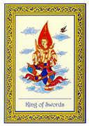 King of Swords Tarot card in Royal Thai deck