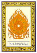 Ace of Coins Tarot card in Royal Thai deck