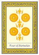Four of Coins Tarot card in Royal Thai deck