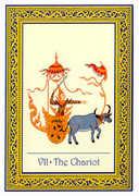 The Chariot Tarot card in Royal Thai deck