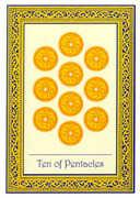 Ten of Coins Tarot card in Royal Thai deck