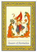 Queen of Coins Tarot card in Royal Thai deck