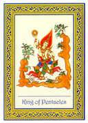 King of Coins Tarot card in Royal Thai deck