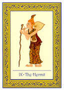 The Hermit Tarot card in Royal Thai deck