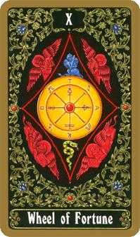 The Wheel of Fortune Tarot Card - Russian Tarot Deck