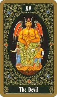 The Devil Tarot Card - Russian Tarot Deck
