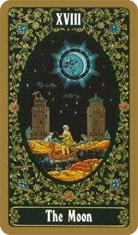 The Moon Tarot Card - Russian Tarot Deck
