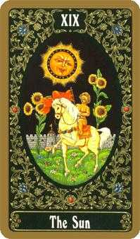 The Sun Tarot Card - Russian Tarot Deck
