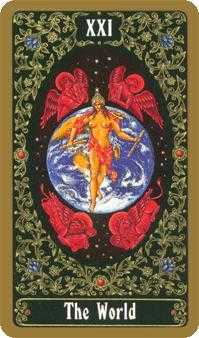 The World Tarot Card - Russian Tarot Deck