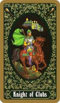 Knight of Batons Tarot Card - Russian Tarot Deck