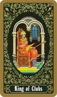King of Batons Tarot Card - Russian Tarot Deck