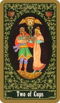 Two of Cups Tarot Card - Russian Tarot Deck