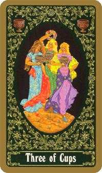 Three of Hearts Tarot Card - Russian Tarot Deck