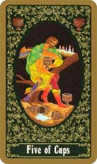 Five of Cups Tarot Card - Russian Tarot Deck