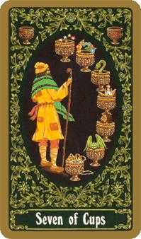 Seven of Bowls Tarot Card - Russian Tarot Deck