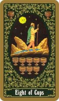 Eight of Cups Tarot Card - Russian Tarot Deck
