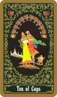 Ten of Hearts Tarot Card - Russian Tarot Deck