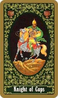 Cavalier of Cups Tarot Card - Russian Tarot Deck