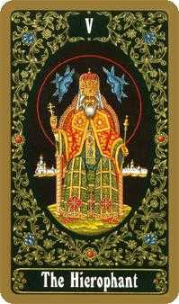 The Hierophant Tarot Card - Russian Tarot Deck