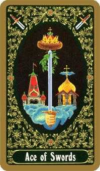 Ace of Swords Tarot Card - Russian Tarot Deck