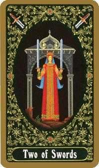 Two of Swords Tarot Card - Russian Tarot Deck