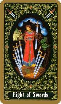Eight of Arrows Tarot Card - Russian Tarot Deck