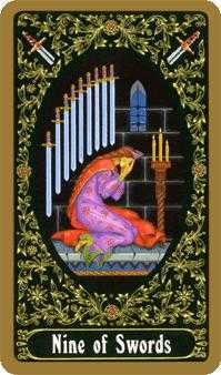 Nine of Swords Tarot Card - Russian Tarot Deck