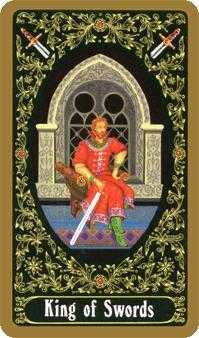 Roi of Swords Tarot Card - Russian Tarot Deck