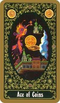 Ace of Discs Tarot Card - Russian Tarot Deck
