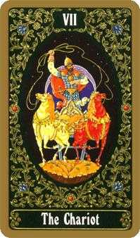 The Chariot Tarot Card - Russian Tarot Deck