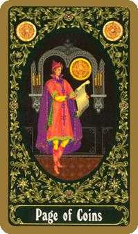 Page of Discs Tarot Card - Russian Tarot Deck