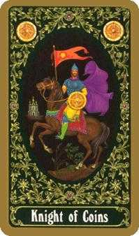 Cavalier of Coins Tarot Card - Russian Tarot Deck