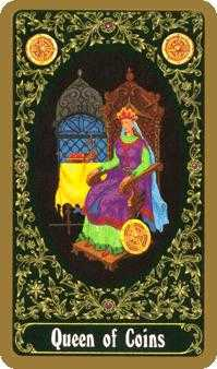 Queen of Coins Tarot Card - Russian Tarot Deck