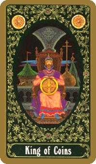 Master of Pentacles Tarot Card - Russian Tarot Deck