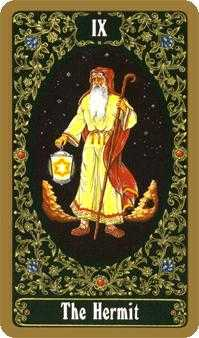 The Hermit Tarot Card - Russian Tarot Deck