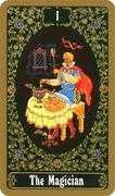 The Magician Tarot card in Russian Tarot deck