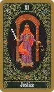 Justice Tarot card in Russian Tarot deck