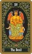 The Devil Tarot card in Russian Tarot deck